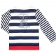 White navy sailor t-shirt