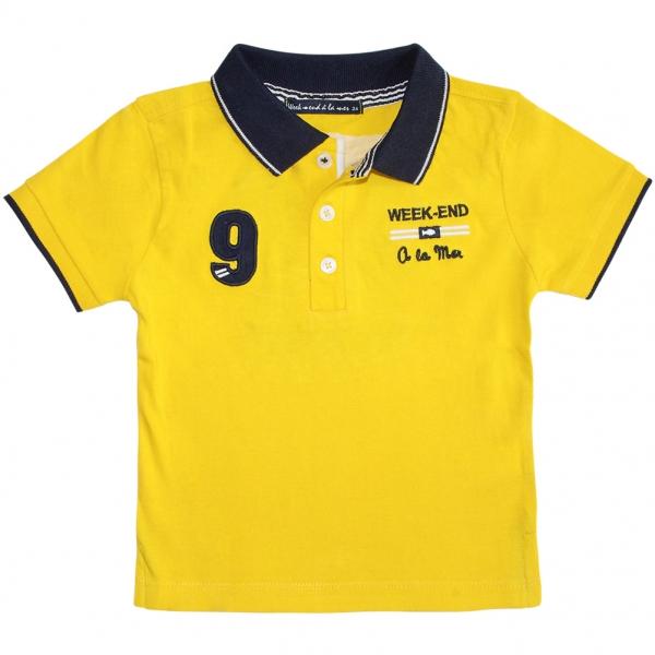 Yellow polo-shirt