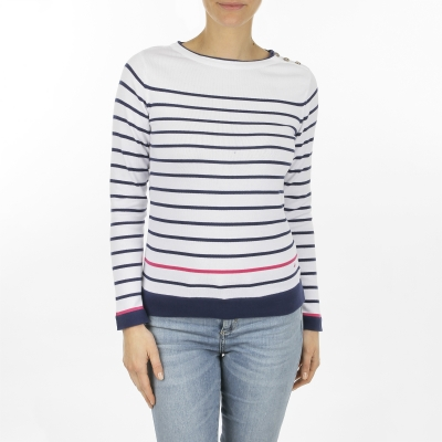 Jumper white navy