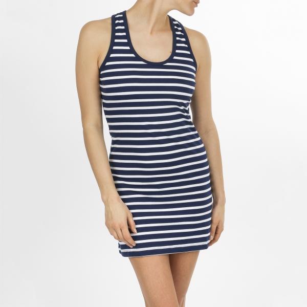 Dress navy str white
