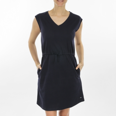 Plain navy dress