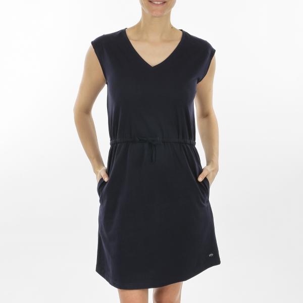 Plain navy dress