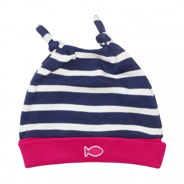 Bonnet marine ecru