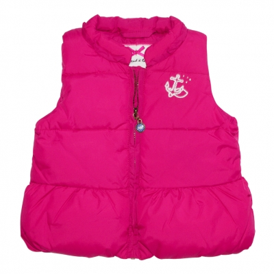 Raspberry sleeveless jacket