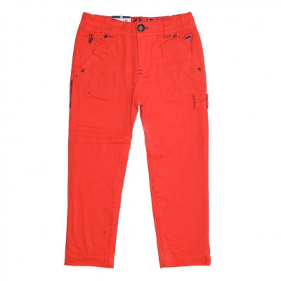 Orange lined pants