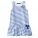 Blue gingham dress