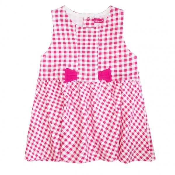 Gingham magenta dress