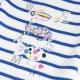 Tee-shirt blanc bleu