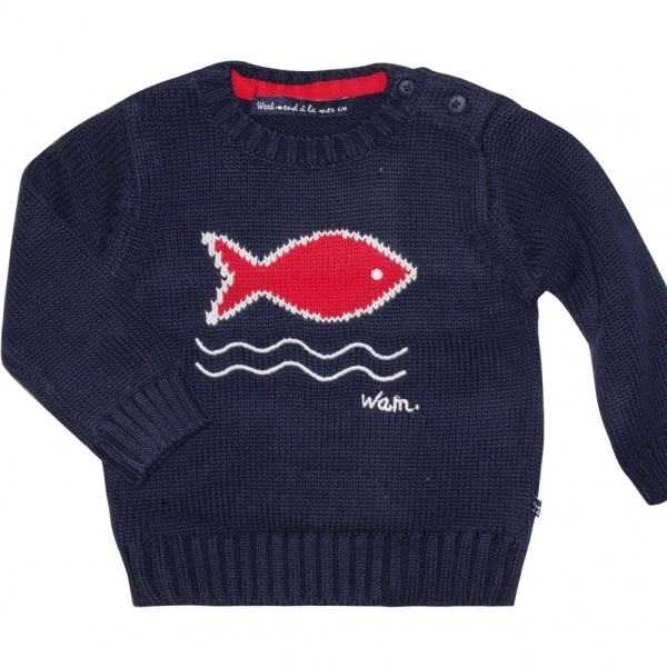1be3468030c2 Stitch navy sweater - Week end à la mer