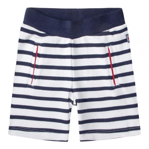 White navy shorts