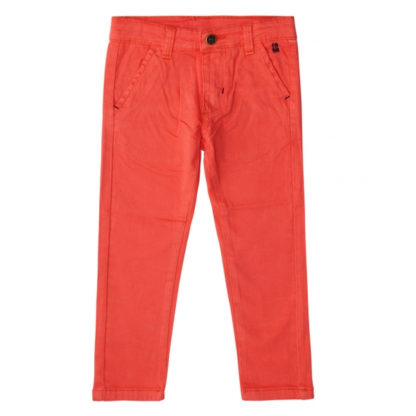 Pantalon orange en toile