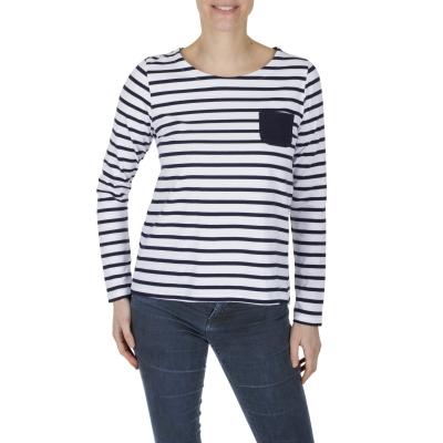 Marinière femme blanc marine