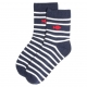 Chaussettes marines et blanches