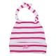 Fushia-striped white hat