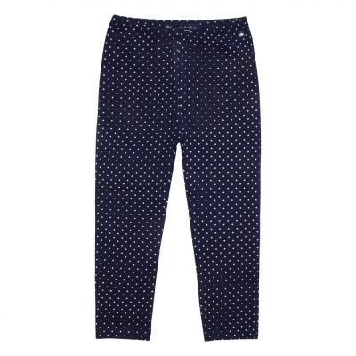 Dotted navy leggings