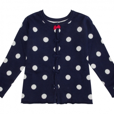 Dotted navy jacket / sweater