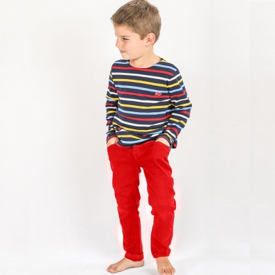 Pantalon rouge en toile