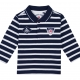 Navy ecru polo-shirt