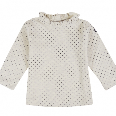 Dotted polo neck jumper