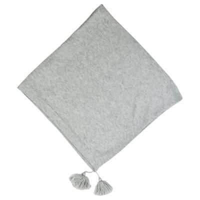 Melanged Grey Poncho