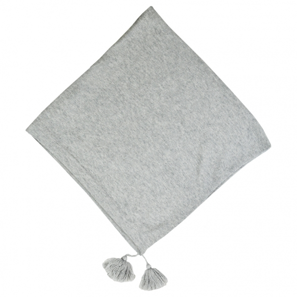 Melanged Grey Poncho