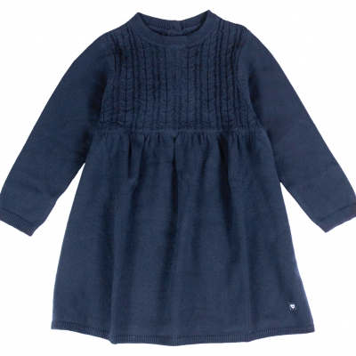 Knitted navy dress