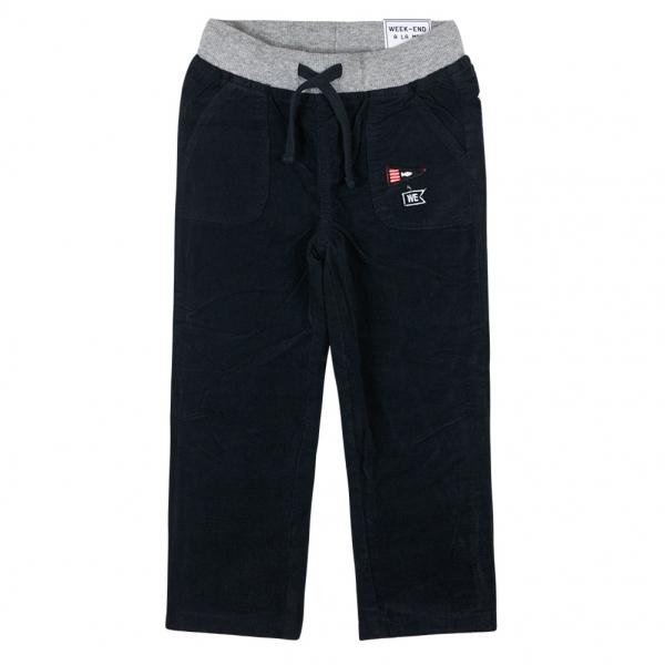 Navy velvet pants