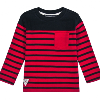 Tee-shirt rouge marine
