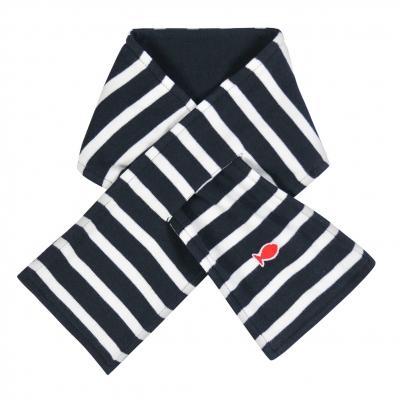 Navy ecru scarf