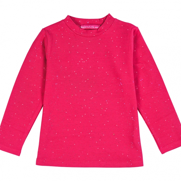 Fushia t-shirt with glitter