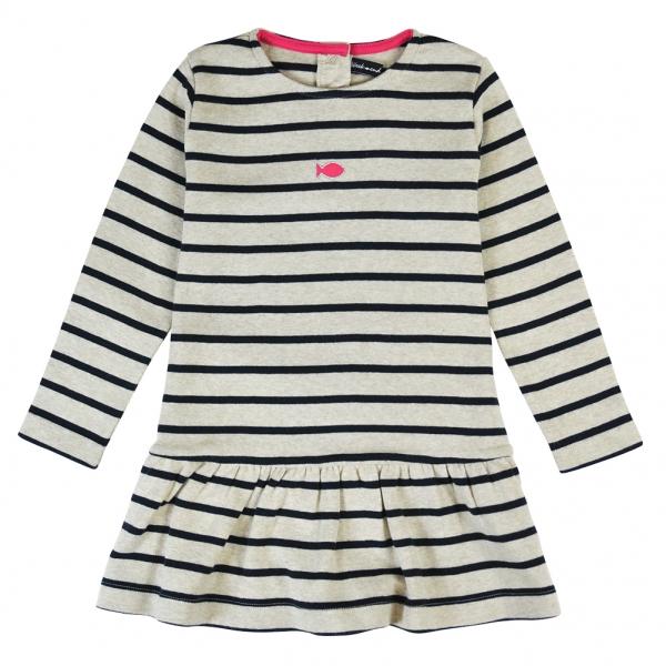 Beige navy dress