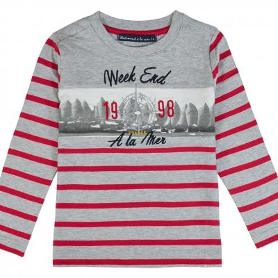 Tee-shirt gris rouge