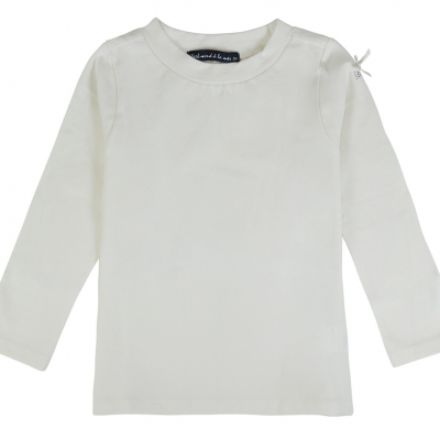 Ecru polo neck jumper