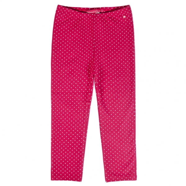 Dotted raspberry leggings
