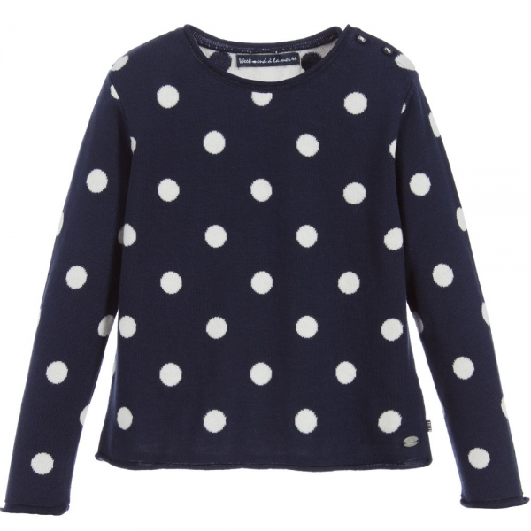 Dotted navy sweater