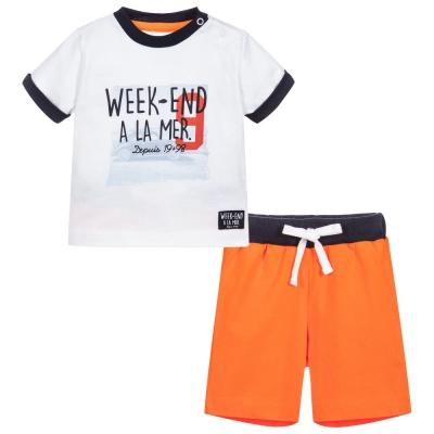 White orange set