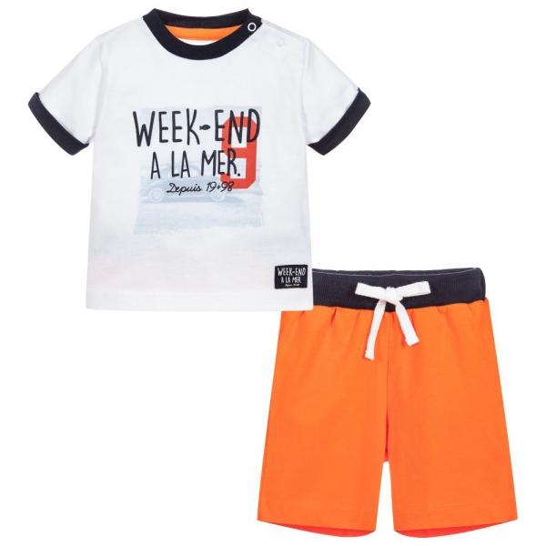Ensemble blanc orange