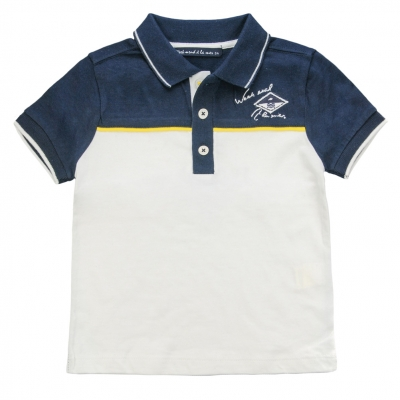 Navy and white polo