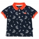 Printed navy polo