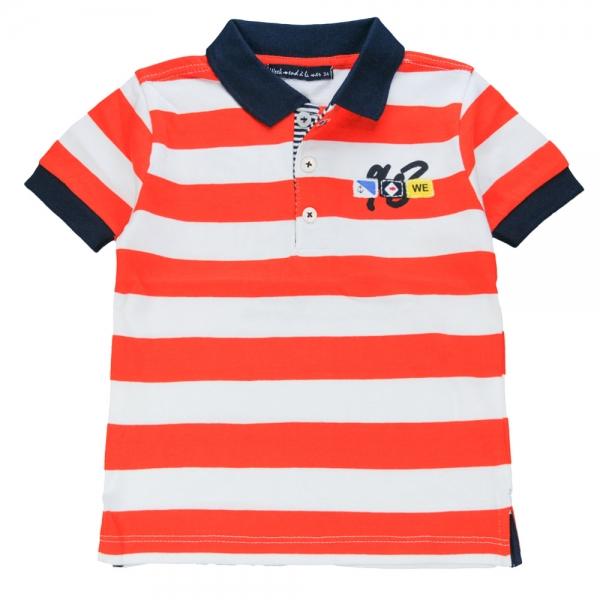 White orange polo-shirt