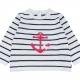 White navy sweater
