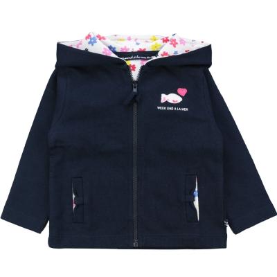Hooded navy jacket