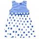 Robe blanc bleu