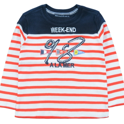 White orange sailor shirt