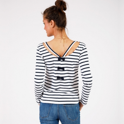 White navy sailor-shirt