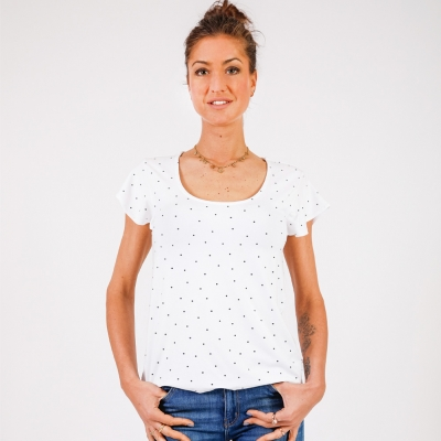 Dotted white t-shirt