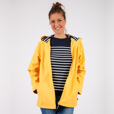 Mixed yellow raincoat