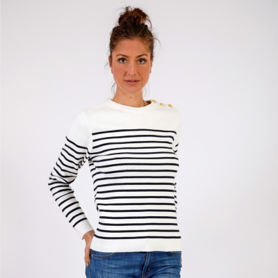 Ecru navy jumper