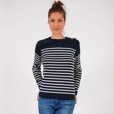 Navy ecru jumper