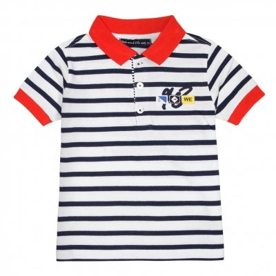 White navy polo-shirt